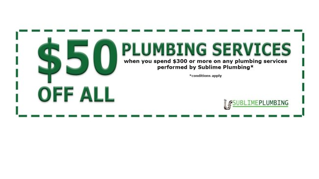$50off plumbing services